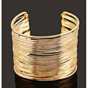 cheap Women's Watches-Women's Layered Cuff Bracelet Wide Bangle - Simple, European, Fashion Bracelet Jewelry Gold / Silver For Daily