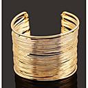ieftine Brățări-Pentru femei Brățări Bantă Wide Bangle Multistratificat Simplu European Modă Aliaj Bijuterii brățară Auriu / Argintiu Pentru Zilnic