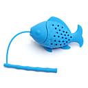 ieftine Ustensile Ceai-siliciu pește infuzer frunze vrac frunze condimente filtru filtru difuzor
