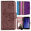 cheap Galaxy J Series Cases / Covers-Case For Samsung Galaxy J4 / J2 PRO 2018 Card Holder / Flip / Pattern Full Body Cases Solid Colored / Butterfly Hard PU Leather for J6 / J4 / J2 PRO 2018