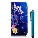 رخيصةأون Nokia أغطية / كفرات-غطاء من أجل نوكيا Nokia 8 / Nokia 6 2018 / Nokia 5.1 محفظة / حامل البطاقات / مع حامل غطاء كامل للجسم فراشة / زهور قاسي جلد PU