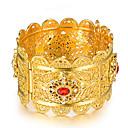 ieftine Brățări-Pentru femei Brățări Bangle Brățări Bantă Sculptură femei Έθνικ Italiană Placat Auriu Bijuterii brățară Auriu Pentru Petrecere Cadou
