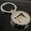 cheap Barware & Openers-Stainless Steel Beer Bottle Cap Cover Bottle Opener with Key Ring