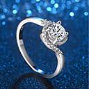 cheap Rings-Women's Stylish Crossover Ring - Platinum Plated, Imitation Diamond Precious Unique Design, Trendy, Elegant 5 / 6 / 7 / 8 / 9 Silver For Formal Work
