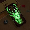 levne Rybářské náčiní-Carcasă Pro Samsung Galaxy iPhone X / iPhone 8 Plus / J6 Svítí ve tmě / IMD / Vzor Zadní kryt Zvíře Měkké TPU pro J8 / J7 (2017) / J7 (2016)