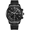 זול שעוני גברים-BOSCK בגדי ריקוד גברים שעון יד שעון תעופה חותם הים קווארץ מתכת אל חלד שחור 30 m עמיד במים לוח שנה עיצוב חדש אנלוגי פאר אופנתי - לבן שחור אדום / זוהר בחושך