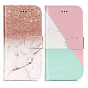 cheap Barware & Openers-Case For Samsung Galaxy S9 Plus / S9 Wallet / Card Holder / with Stand Full Body Cases Marble Hard PU Leather for S9 / S9 Plus / S8