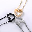 ieftine Colier la Modă-Pentru femei Coliere cu Pandativ Charm Colier Șuviță unică Inimă femei La modă Corean Modă Aliaj Auriu Negru Argintiu 48 cm Coliere Bijuterii 1 buc Pentru Zilnic Stradă Ieșire