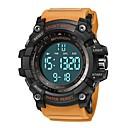 levne Pánské-SANDA Pánské Sportovní hodinky Digitální hodinky japonština Digitální Silikon Černá / Červená / Orange 30 m Voděodolné Kalendář Stopky Digitální Luxus Módní - Černá / červená Khaki Černá / Bílá