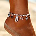 hesapli Kolyeler-Eski Tip Tarz Ayak bileziği Ayak bileği bilezik - Kaplumbağa, Denizyıldızı Sallantılı Stil, Bohem Gümüş Uyumluluk Tatil Bikini Kadın's