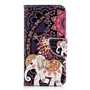 رخيصةأون أغطية أيفون-غطاء من أجل Apple iPhone X / iPhone 8 Plus / iPhone 8 محفظة / حامل البطاقات / مع حامل غطاء كامل للجسم حيوان / فيل قاسي جلد PU
