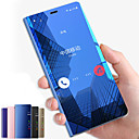 hesapli LED Mum Işıklar-Pouzdro Uyumluluk Samsung Galaxy Note 9 / Note 8 Satandlı / Ayna / Flip Tam Kaplama Kılıf Solid Sert PC için Note 9 / Note 8 / Note 5