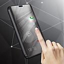 رخيصةأون حافظات / جرابات هواتف جالكسي J-غطاء من أجل Samsung Galaxy J8 / J7 Duo / J6 مع حامل / تصفيح / مرآة غطاء كامل للجسم لون سادة قاسي جلد PU