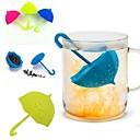 hesapli Çay Takımları-Şemsiye çay demlik silikon çay sttrainer gevşek yaprak filtre süzgeç