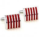 رخيصةأون الستائر-أزرار أكمام علم رسمي موضة بروش مجوهرات أحمر من أجل رسمي متخصص