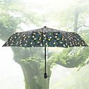 billige Regntøy-polyester / Rustfritt stål Alle resirkulerbar Sammenfoldet paraply