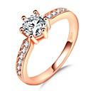 ieftine Inele-Pentru femei Stl simulat Band Ring Inel Belle Ring Placat Cu Aur Roz Diamante Artificiale Prinţesă Norocos femei Romantic Modă Franceză Inele la Modă Bijuterii Roz auriu Pentru Nuntă Petrecere Cadou