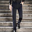 رخيصةأون بدلات-رجالي أساسي مناسب للبس اليومي بدلة بنطلون - لون سادة أزرق أسود 28 34 36