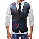 رخيصةأون ملصقات ديكور-رجالي التقزح اللوني XXXL XXXXL 5XL Vest قياس كبير أساسي ألوان متناوبة / قوس قزح V رقبة نحيل / بدون كم