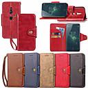 tanie Artykuły i akcesoria do pielęgnacji dla psów-Kılıf Na Sony Xperia XZ1 Compact / Xperia XZ2 Portfel / Etui na karty / Z podpórką Pełne etui Solidne kolory Twardość Skóra PU na Xperia XZ2 / Xperia XZ1 Compact / Sony Xperia XZ1