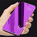 お買い得  Galaxy J シリーズ ケース/カバー-ケース 用途 Samsung Galaxy J7 Duo / J4 スタンド付き / メッキ仕上げ / ミラー フルボディーケース ソリッド ハード PUレザー のために J8 / J7 Duo / J6
