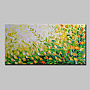 رخيصةأون القلائد-هانغ رسمت النفط الطلاء رسمت باليد - تجريدي الأزهار / النباتية الحديث بدون إطار داخلي / توالت قماش