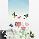 levne barvé náčiní a vývrtky-Okenní film a samolepky Dekorace Jednoduchý Květinový / Jednoduchý PVC Nálepka na okna