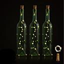 ieftine Compas-BRELONG® 1 buc Dop de sticle de vin LED-uri de lumină de noapte Alb Cald / Alb / Roșu Buton Acumulator alimentat Creative / Nuntă / Decorațiuni <5 V