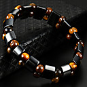 cheap Brooches-Women's Black Gemstone Tiger Eye Stone Stylish Strand Bracelet Bracelet - Creative Natural, Casual / Sporty, Fashion Bracelet Black For Birthday Daily