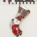 cheap Home Decoration-Christmas Stockings Holiday Polyester Cube Novelty Christmas Decoration