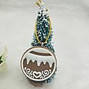 ieftine Decorațiuni Casă-Ornamente de crăciun Vacanță Plastic Rotund Novelty Glob de Craciun