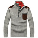 cheap Makeup & Nail Care-Men's Daily Solid Colored Long Sleeve Regular Cardigan, Crew Neck Red / Dark Gray / Beige XL / XXL / XXXL