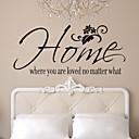 preiswerte Wanddekoration-Dekorative Wand Sticker - Worte & Zitate Wandaufkleber Personen Wohnzimmer / Schlafzimmer / Badezimmer