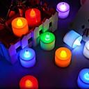 halpa Toimistotarvikkeet-2kpl johti kynttilä monivärinen lamppu liekki vilkkuu teetä kevyt häät syntymäpäiväjuhlat
