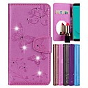 cheap Galaxy J Series Cases / Covers-Case For Samsung Galaxy J6 Card Holder / with Stand / Pattern Full Body Cases Butterfly / Flower Hard PU Leather for J6