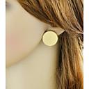 levne Küpeler-Dámské Stylové Peckové náušnice - Šťastný dámy Základní Módní Šperky Zlatá Pro Denní Rande 1 Pair