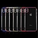 baratos Capinhas para iPhone-Capinha Para Apple iPhone X / iPhone 8 Plus Galvanizado / Transparente Capa traseira Sólido Macia TPU para iPhone X / iPhone 8 Plus / iPhone 8