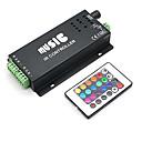 baratos Conetores-4a 3 canais RGB levado inteligente controlador IR música com controle remoto multifuncional para rgb conduziu a lâmpada de tira (12v-24v)