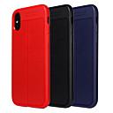 זול מגנים לאייפון-מגן עבור Apple iPhone X / iPhone 8 Plus עמיד בזעזועים / עמיד לאבק כיסוי מלא אחיד רך TPU ל iPhone X / iPhone 8 Plus / iPhone 8