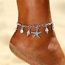 ieftine Bijuterii de Corp-Pentru femei Brățară Gleznă gleznă brățară picioare bijuterii Retro Yoga Stea de mare Scoică femei Stil Atârnat Boem Brățară Gleznă Bijuterii Argintiu Pentru Concediu Ieșire