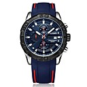 رخيصةأون ساعات الرجال-MEGIR رجالي ساعة رياضية ياباني كوارتز سيليكون أسود / أزرق 30 m مقاوم للماء رزنامه الكرونوغراف مماثل موضة - أسود أزرق / قضية