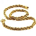 billige Halskæder-Herre Stilfuldt Halskæde 18K Guldbelagt Guldbelagt Kreativ Mode Sej Guld 60 cm Halskæder Smykker 1pc Til Gave Daglig