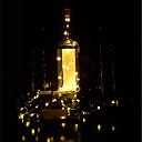 baratos Relógios Masculinos-brelong 1 pc 8led garrafa de vinho lâmpada de fio de cobre