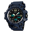 ราคาถูก นาฬิกาสำหรับผู้ชาย-SKMEI สำหรับผู้ชาย นาฬิกาแนวสปอร์ต นาฬิกาทหาร นาฬิกาดิจิตอล ญี่ปุ่น นาฬิกาอิเล็กทรอนิกส์ (Quartz) PU Leather ดำ / เทา / สีสระน้ำ 50 m นาฬิกาปลุก ปฏิทิน โครโนกราฟ อะนาล็อก-ดิจิตอล แฟชั่น สีสัน -