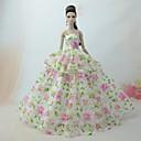 hesapli Barbie Bebek Kıyafetleri-Sevimli Elbise İçin Barbie Bebek Polyester Elbise İçin Kız Oyuncak bebek