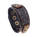 billige Smykkesæt-Herre Vintage Stil Vintage Armbånd Titanium Stål Vintage Europæisk Armbånd Smykker Brun Til Gade