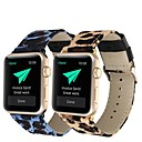 abordables Coques d'iPhone-Bracelet de Montre  pour Apple Watch Series 4/3/2/1 Apple Bracelet en Cuir Vrai Cuir Sangle de Poignet