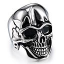 povoljno Ogrlice-Muškarci Vintage Style Skulptura Meksička lubanja šećera Prsten Titanium Steel Lubanja Stilski Vintage Punk Modno prstenje Jewelry Pink Za Karneval Ulica Cosplay nošnje 10 / 11 / 12