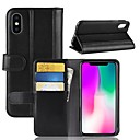 cheap iPhone Cases-Case For Apple iPhone XS / iPhone XR Wallet / Card Holder / Flip Full Body Cases Solid Colored Hard Genuine Leather for iPhone XS / iPhone XR / iPhone XS Max