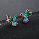 cheap Earrings-Women's Sculpture Stud Earrings - Rhinestone Mini Bird Ladies Cartoon Cute Jewelry Rainbow For Daily Going out 1 Pair
